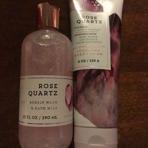 Bath & Body Works Rose Quartz lotion body wash NEW